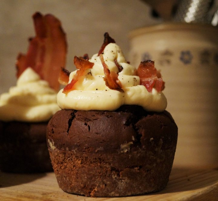 Ahorn-Schoko-Bacon Cupcakes